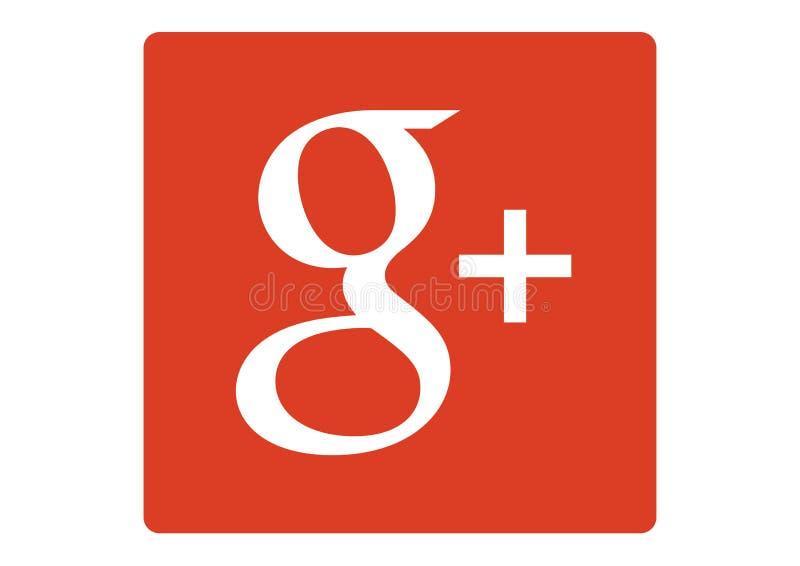 Logotipo do sinal de adição social de Google da rede ilustração stock