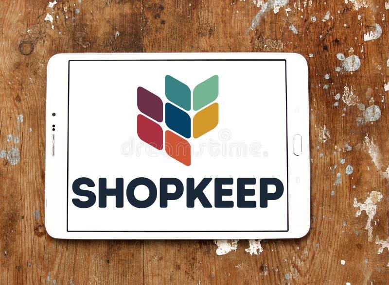 Logotipo do sistema da posição do ponto de venda de ShopKeep fotografia de stock royalty free