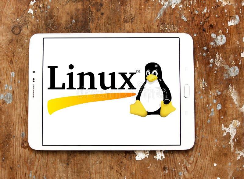 Logotipo do sistema operacional de Linux fotos de stock