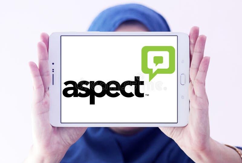 Logotipo do software do aspecto foto de stock