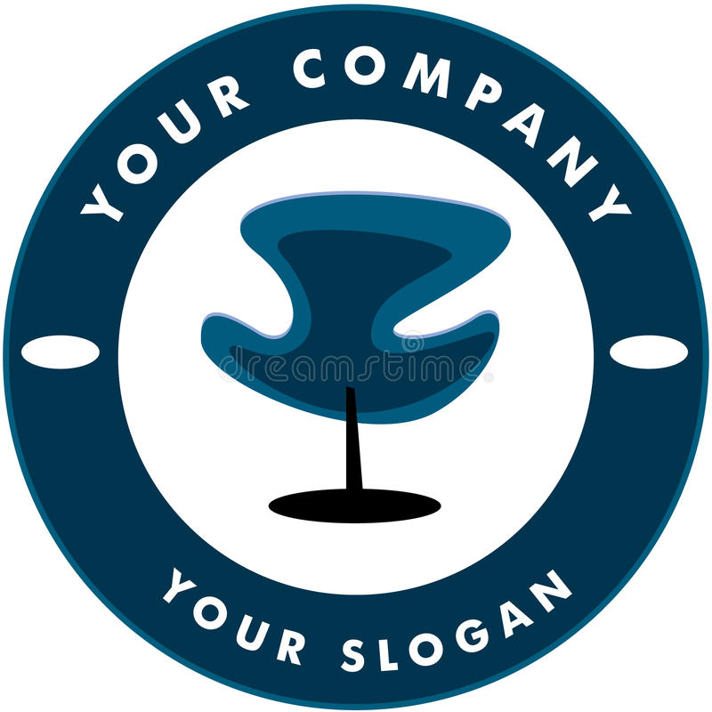 Logotipo do Solon do cabelo ilustração do vetor