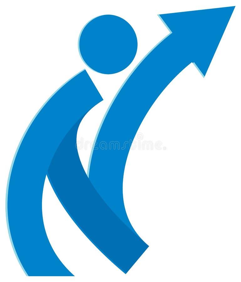Logotipo do sucesso ilustração do vetor