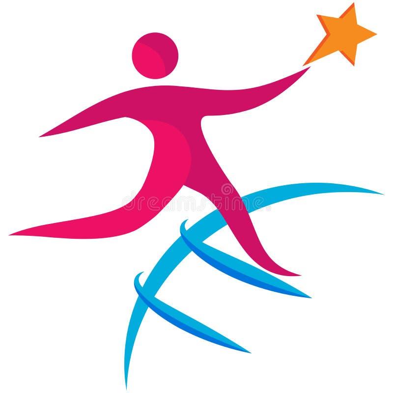 Logotipo do sucesso ilustração stock