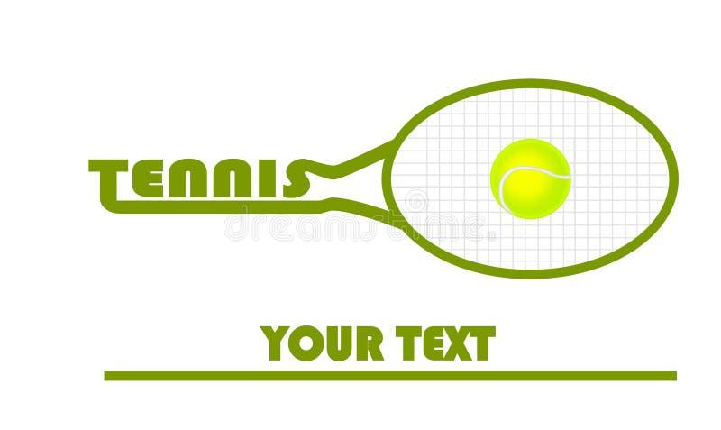 Logotipo do tênis com bola de tênis ilustração royalty free