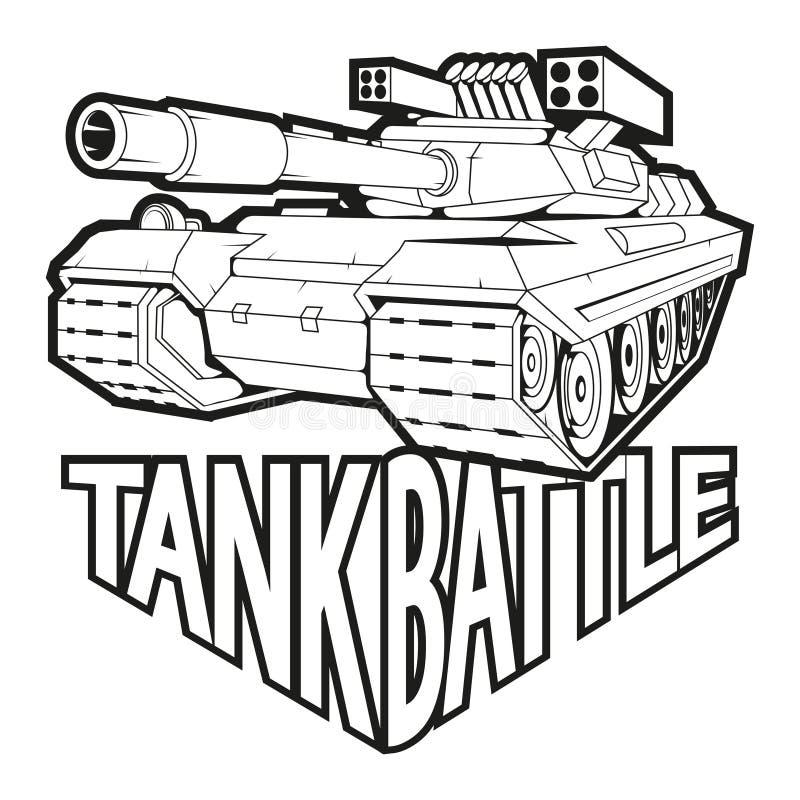 Logotipo do tanque de guerra ilustração do vetor