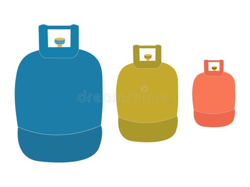 Logotipo do tanque de propano líquido ilustração do vetor