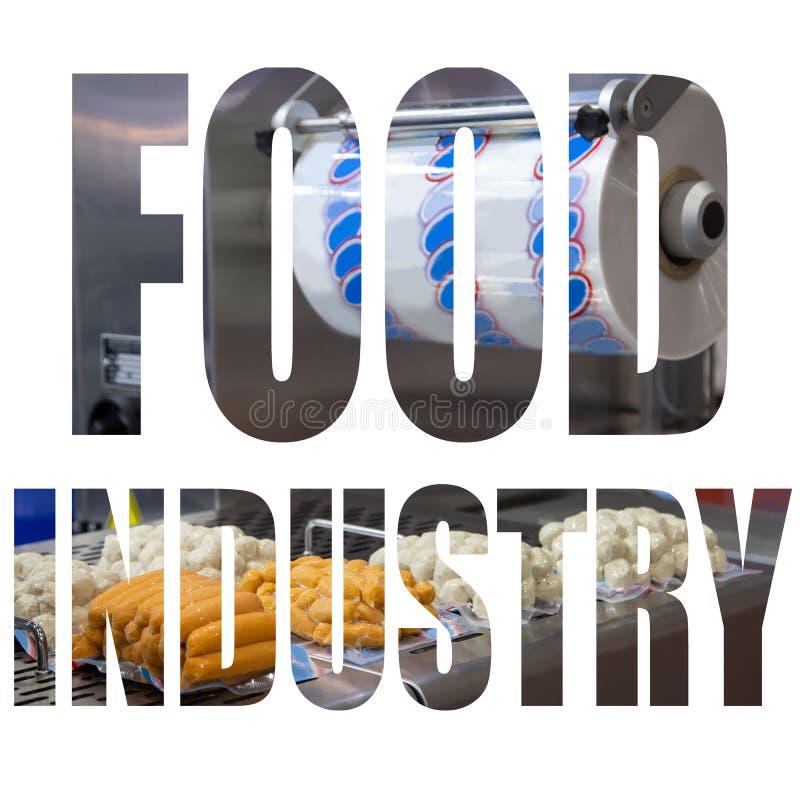 Logotipo do texto da indústria alimentar ilustração royalty free