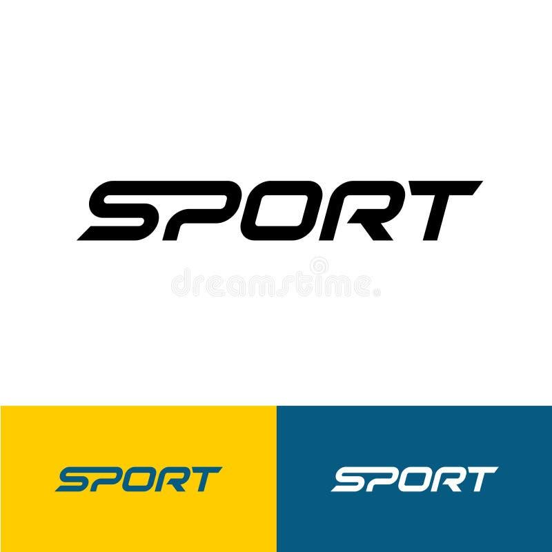Logotipo do texto da palavra do esporte ilustração royalty free