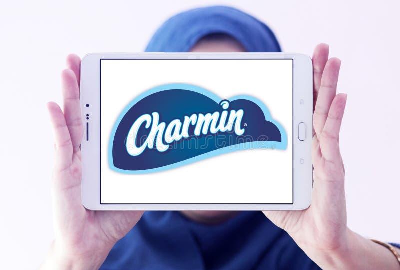 Logotipo do tipo do papel higiênico de Charmin imagens de stock
