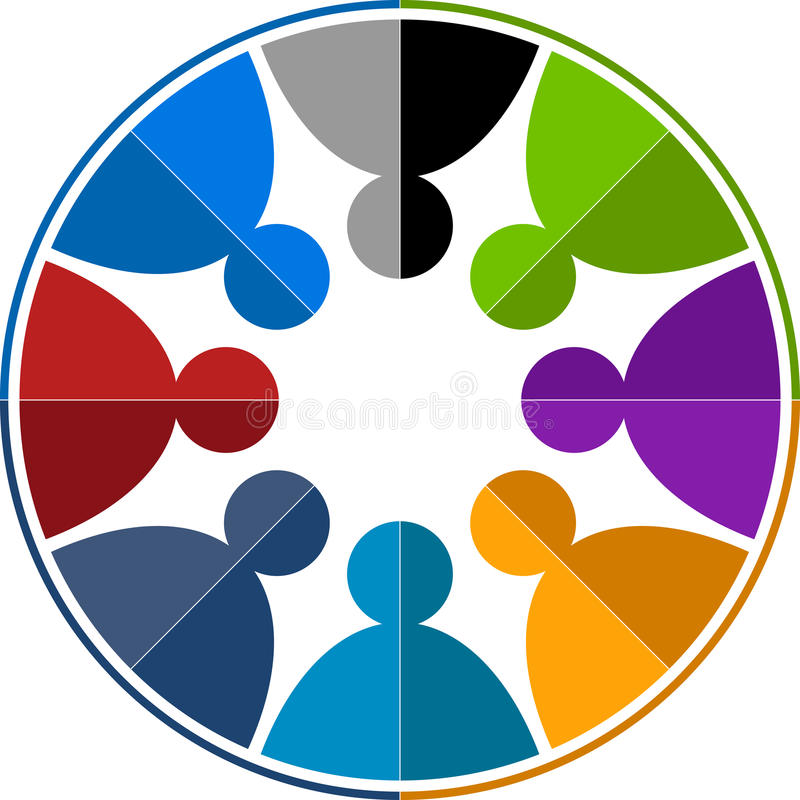 Logotipo do trabalho da equipe ilustração stock