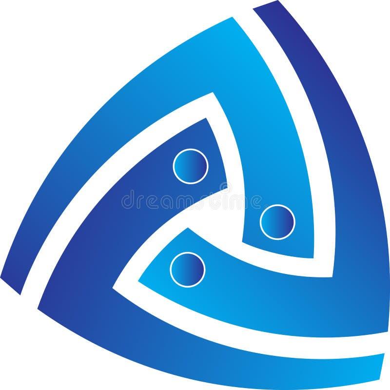 Logotipo do triângulo ilustração do vetor