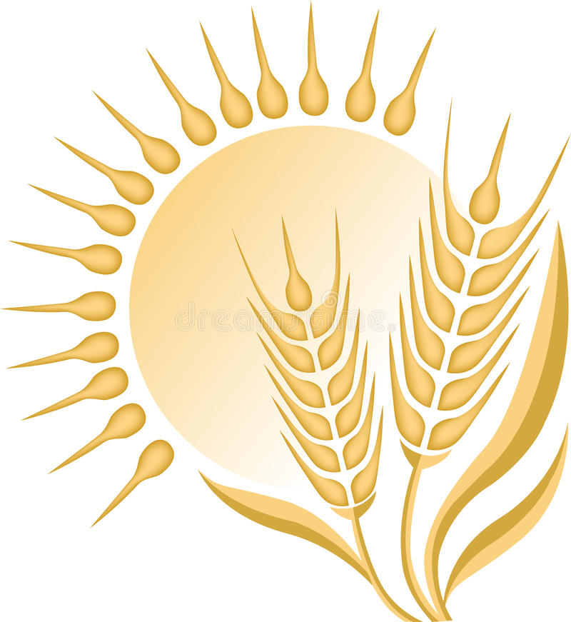 Logotipo do trigo ilustração stock