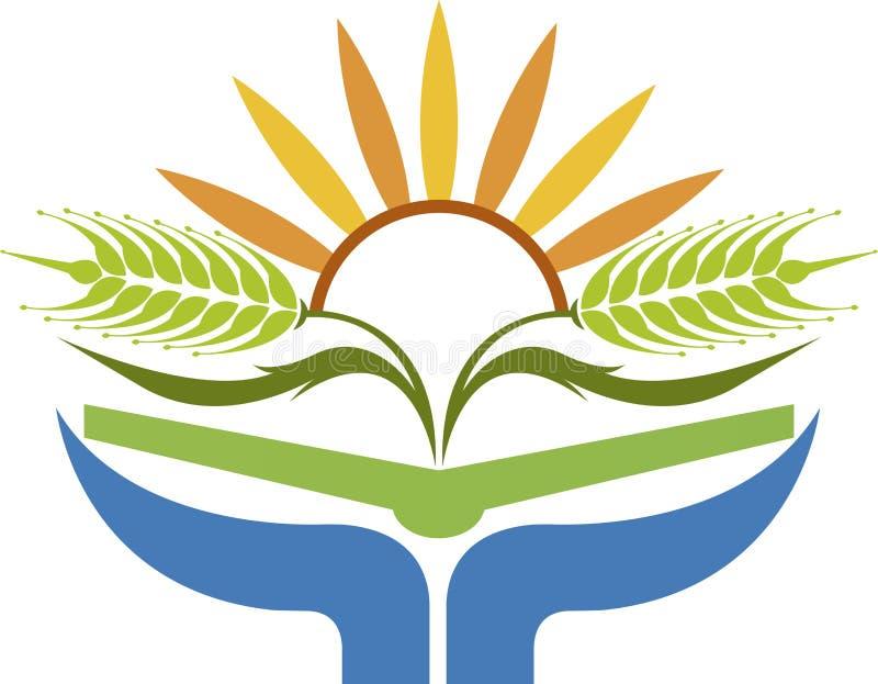 Logotipo do trigo do nascer do sol