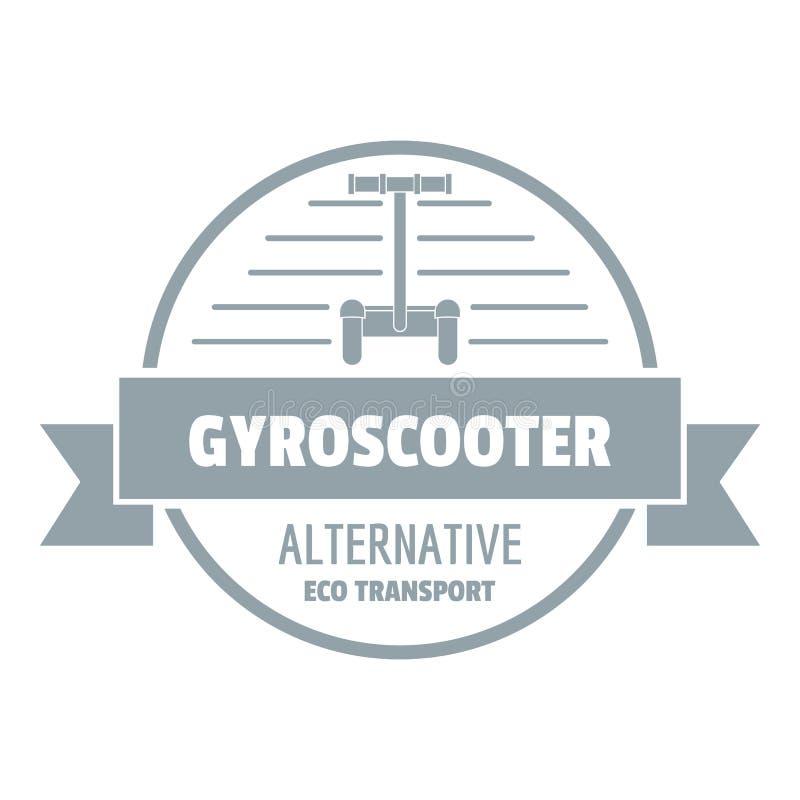 Logotipo do 'trotinette' do giroscópio, estilo cinzento simples ilustração royalty free