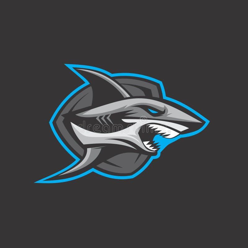 Logotipo do tubarão do assassino ilustração royalty free