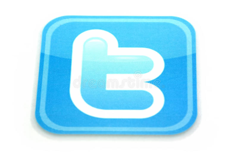 Logotipo do Twitter imagem de stock royalty free