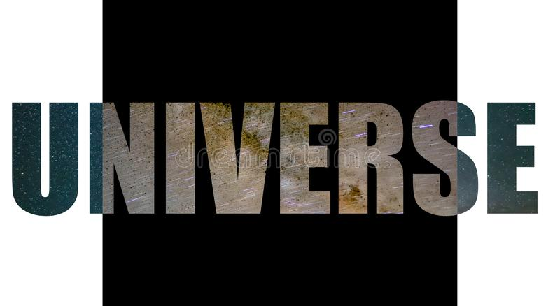 Logotipo do universo com enchimento da estrela ilustração do vetor
