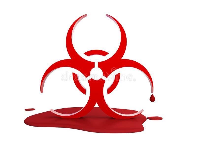Logotipo do vírus no sangue ilustração do vetor