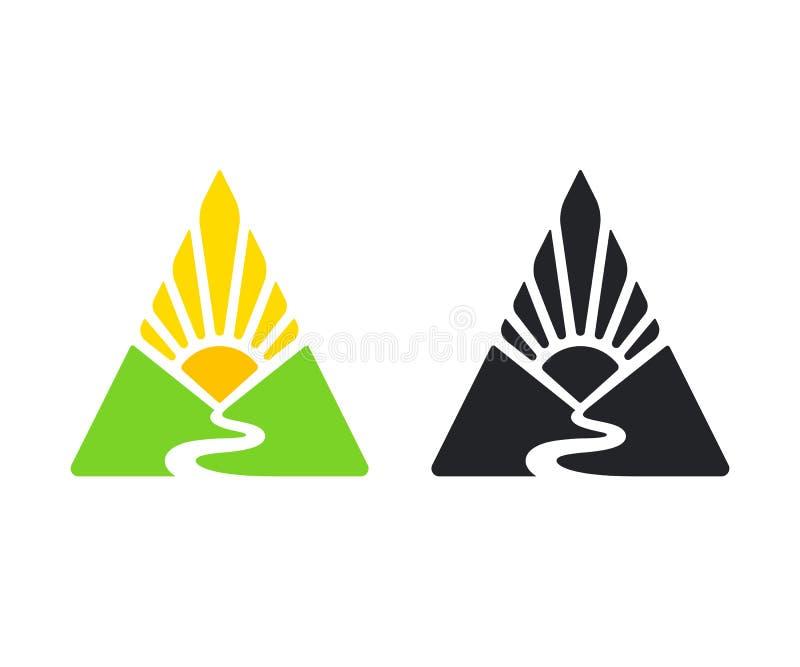 Logotipo do vale e do sol ilustração royalty free