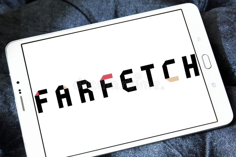 Logotipo do varejista da forma de Farfetch imagem de stock