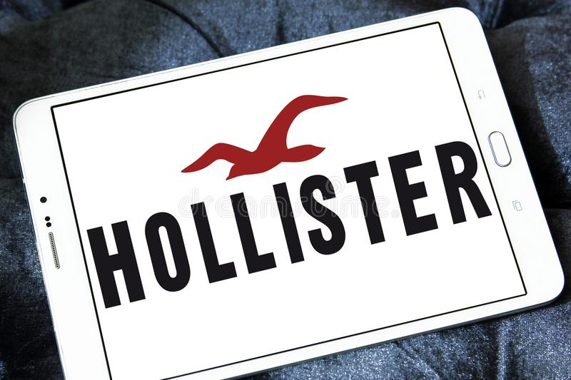 Logotipo do varejista da forma de Hollister imagem de stock royalty free