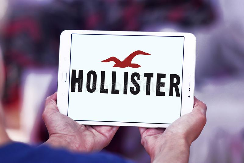 Logotipo do varejista da forma de Hollister foto de stock