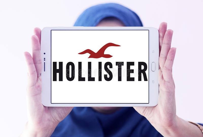 Logotipo do varejista da forma de Hollister imagem de stock