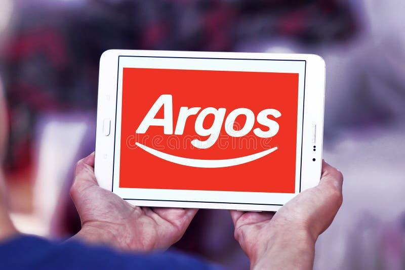 Logotipo do varejista de Argos imagem de stock royalty free