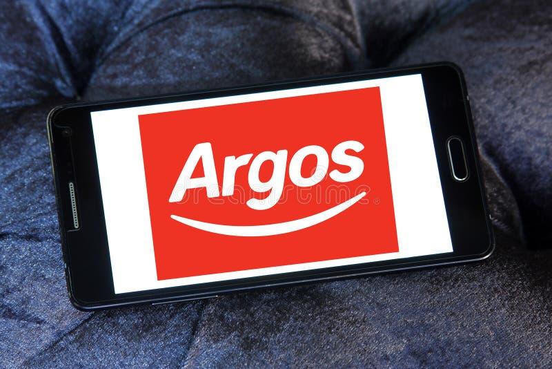 Logotipo do varejista de Argos imagens de stock