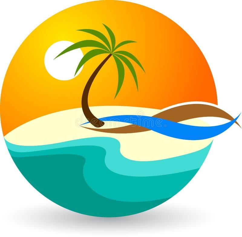 Logotipo do verão ilustração stock