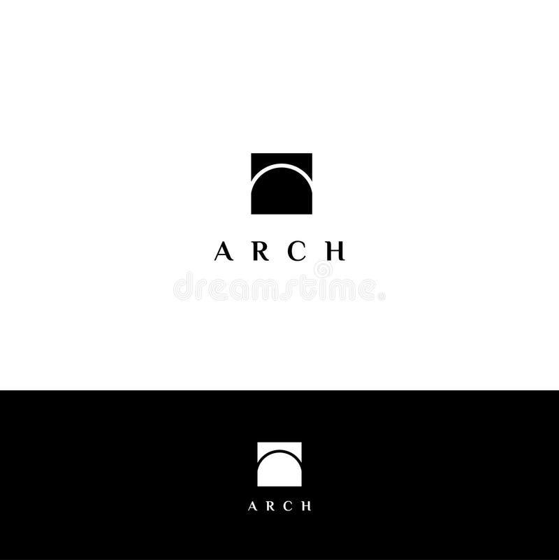 Logotipo do vetor do arco ilustração royalty free