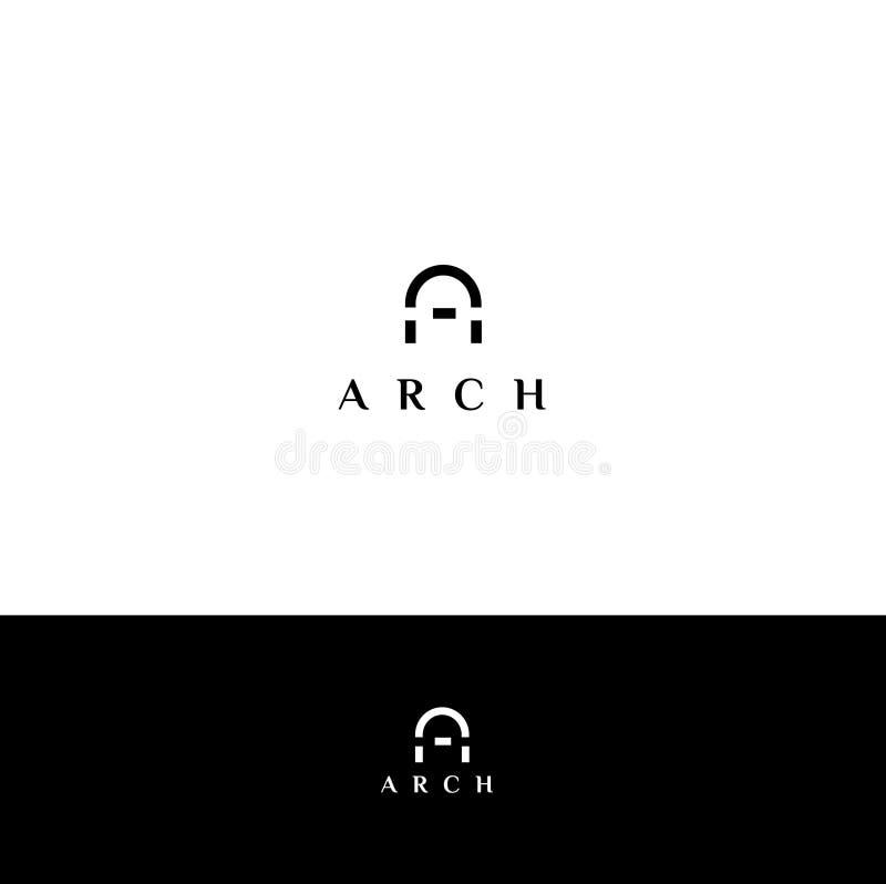 Logotipo do vetor do arco Emblema do arco ilustração do vetor