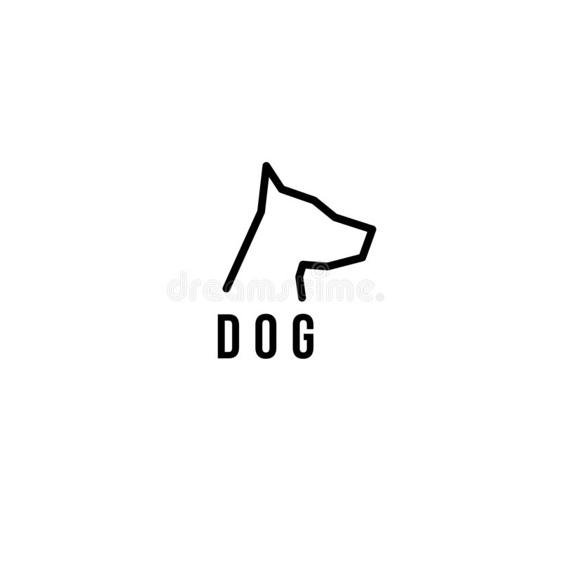 Logotipo do vetor do cão Ícone do vetor do cão ilustração stock