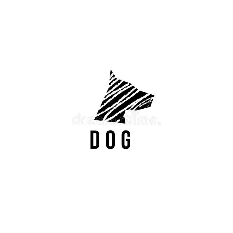 Logotipo do vetor do cão Ícone do vetor do cão ilustração royalty free