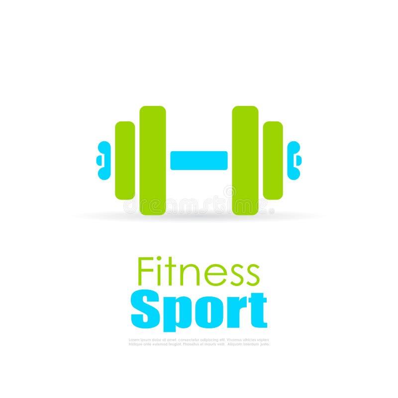 Logotipo do vetor da aptidão do esporte ilustração royalty free