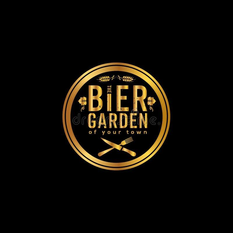 Logotipo do vetor da cerveja ilustração stock