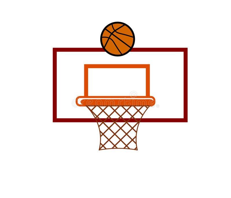 Logotipo do vetor da cesta e da bola da Web ilustração stock