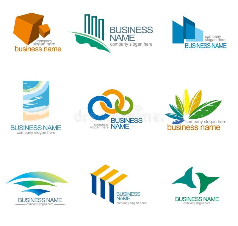 Logotipo do vetor da empresa ilustração stock