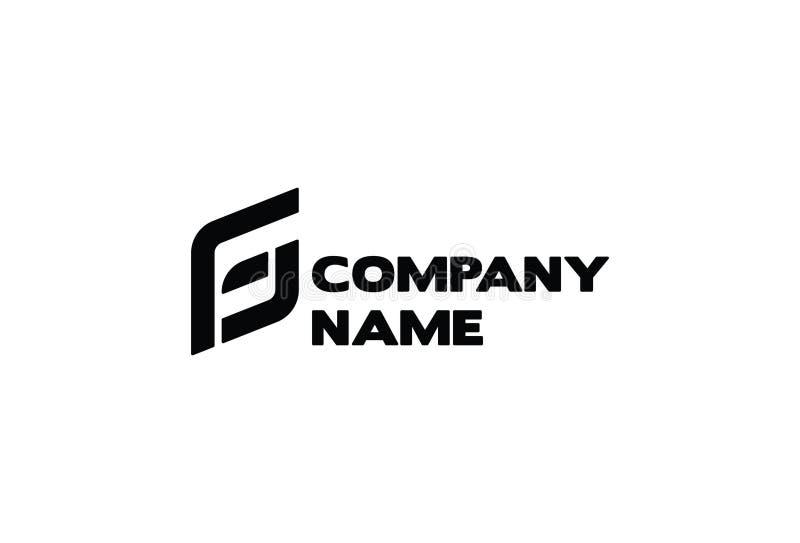 Logotipo do vetor da empresa de negócio da letra G & do F ilustração royalty free