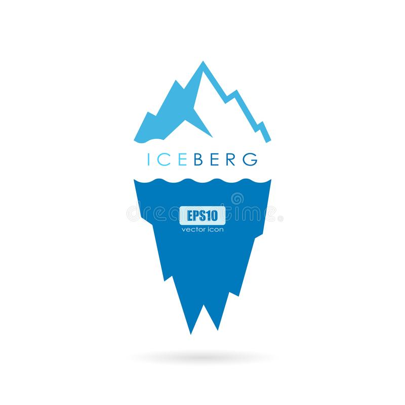 Logotipo do vetor da icebergue de gelo ilustração stock