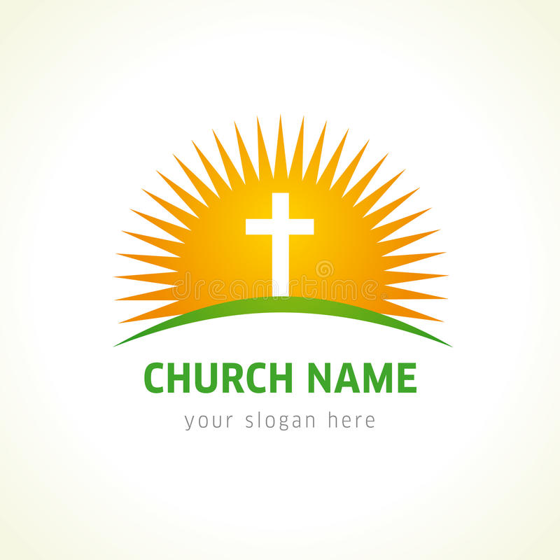 Logotipo do vetor da igreja ilustração royalty free