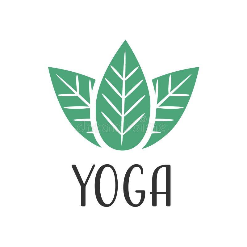 Logotipo do vetor da ioga ilustração royalty free
