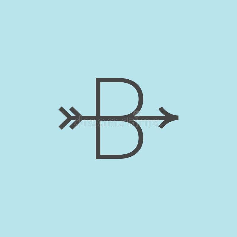Logotipo do vetor da letra de B Logotipo da seta ?cone da seta ilustração do vetor