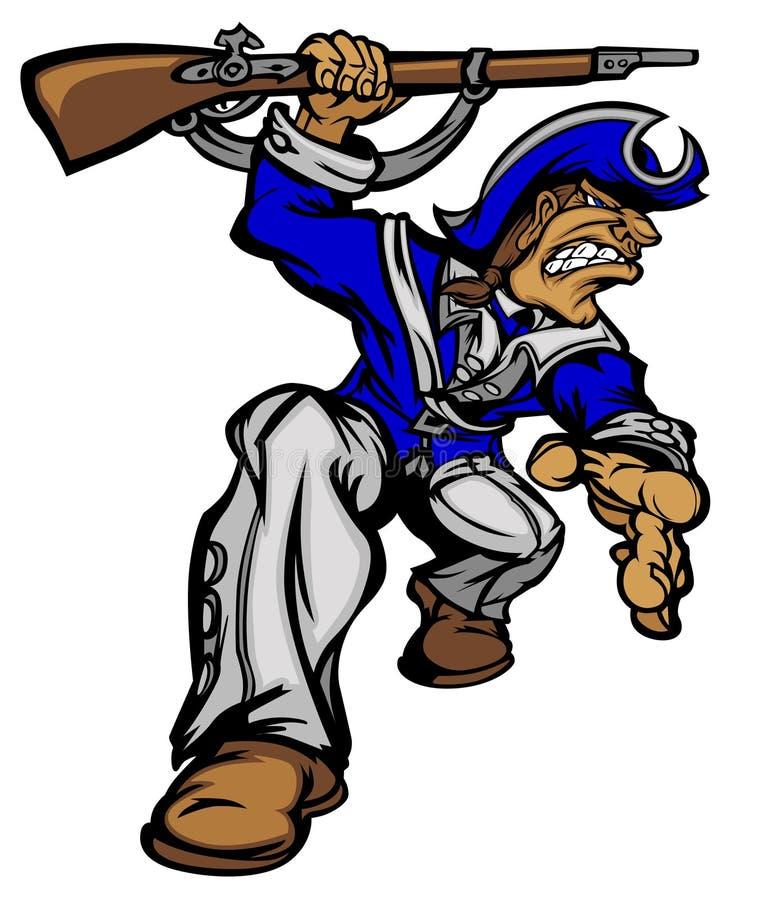 Logotipo do vetor da mascote do patriota