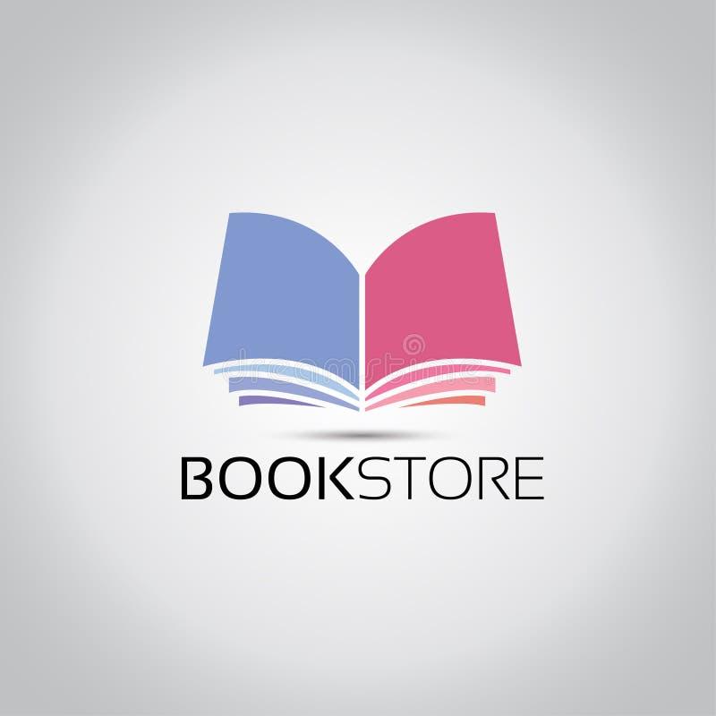 Logotipo do vetor das livrarias ilustração stock