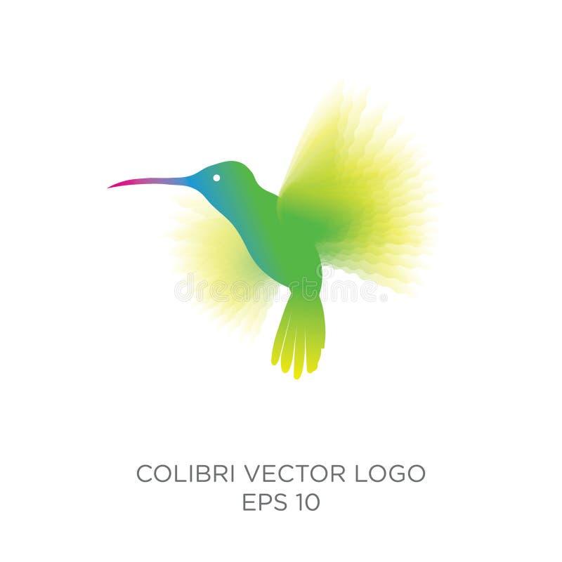 Logotipo do vetor de Colibri ilustração do vetor