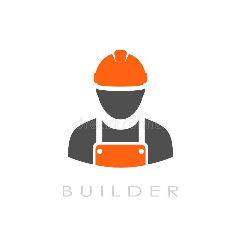 Logotipo do vetor do construtor ilustração do vetor
