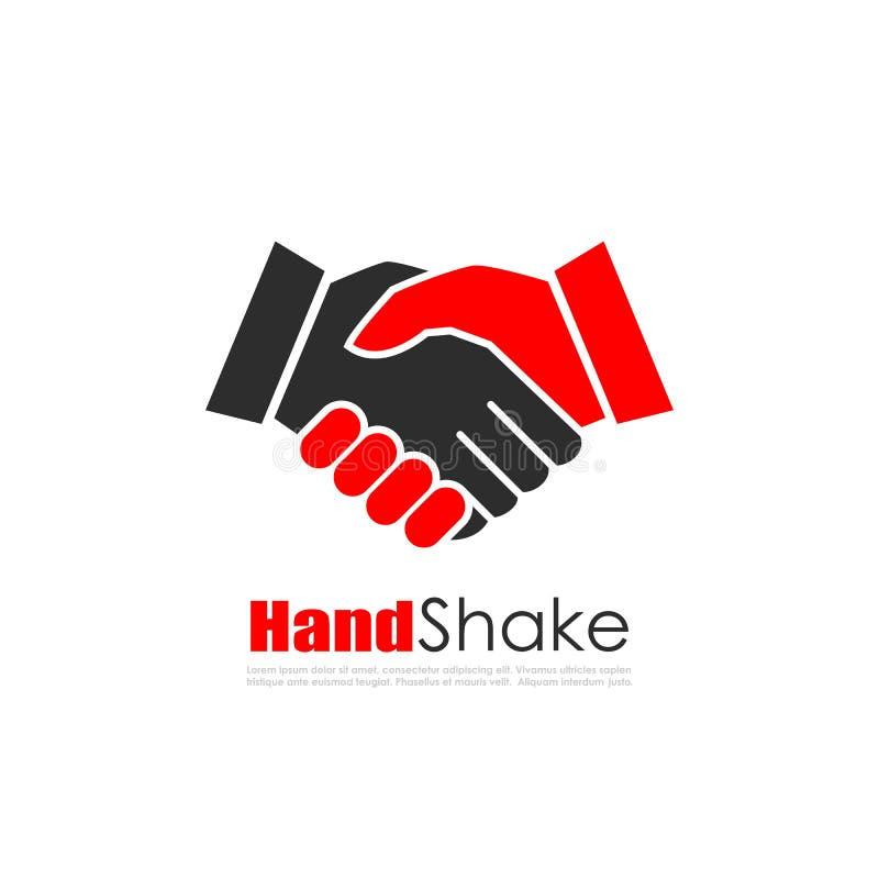 Logotipo do vetor do negócio da agitação da mão ilustração do vetor