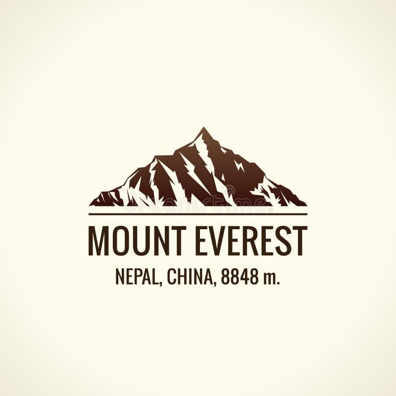 Logotipo do vetor do turista da montanha A montagem do emblema aventura-se fora ilustração royalty free
