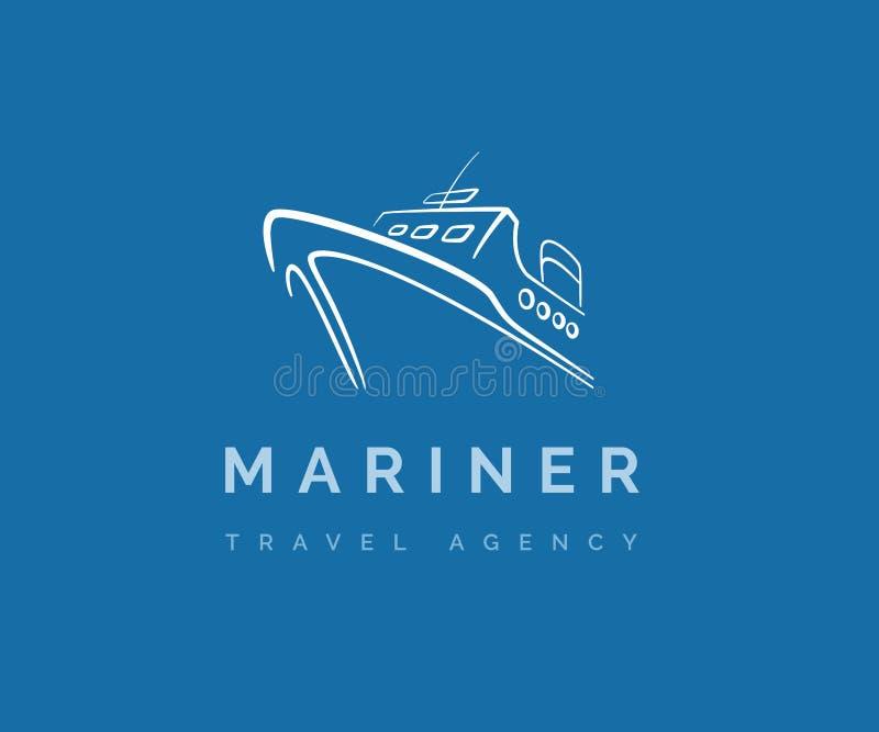 Logotipo do vetor dos serviços do navio e de balsa ilustração royalty free
